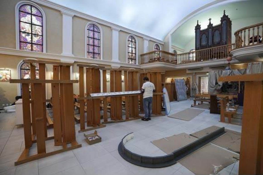 Nouvel éclairage pour les vitraux de la Chapelle des Carmes
