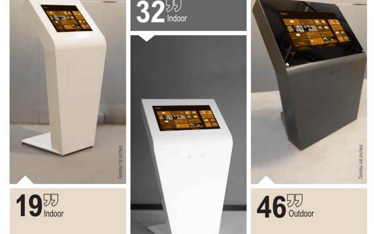 Totem tactile interactive